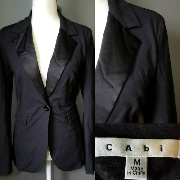 CAbi Black Tuxedo style suit jacket
